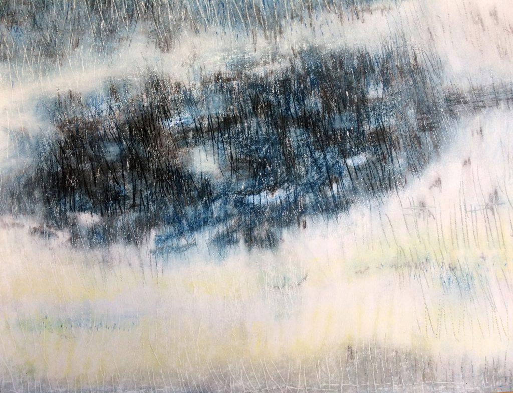 Moeras 2, 2016 - 70 x 50 – gemengde techniek op papier