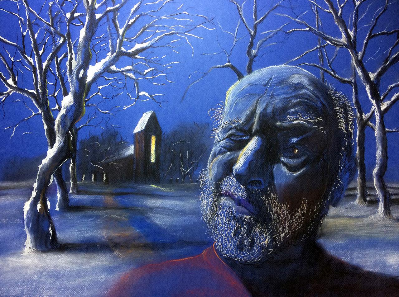 Zelfportret 15 Sneeuw
