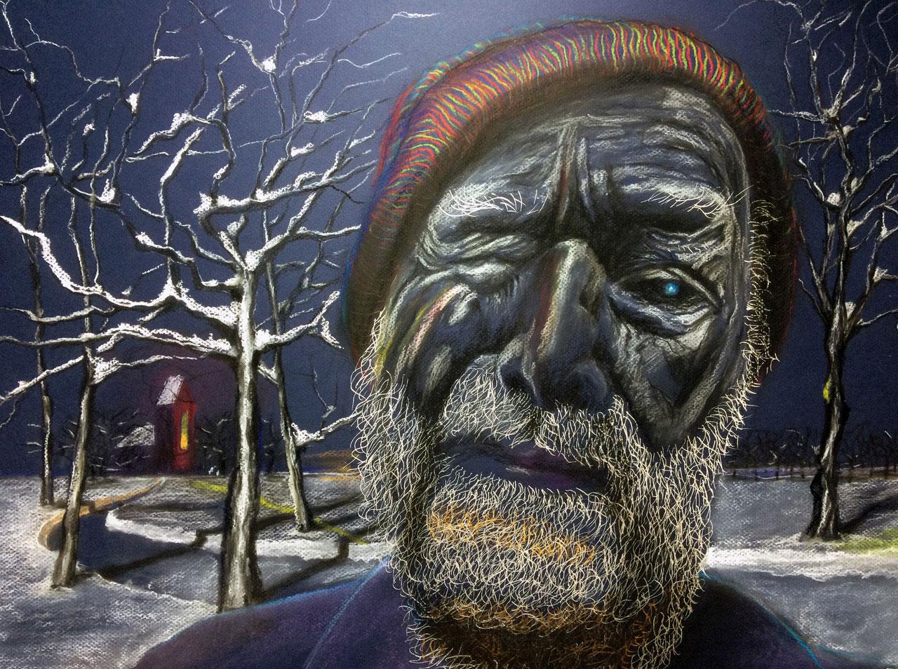 Zelfportret 16 Sneeuw