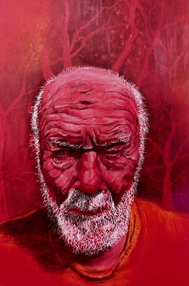 Zelfportret 22, 2020 – 50 x 65 cm – gemengde techniek op papier